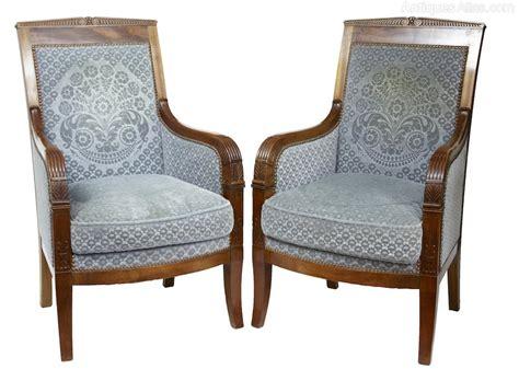 Pair Armchairs by Pair Mahogany Armchairs Antiques Atlas