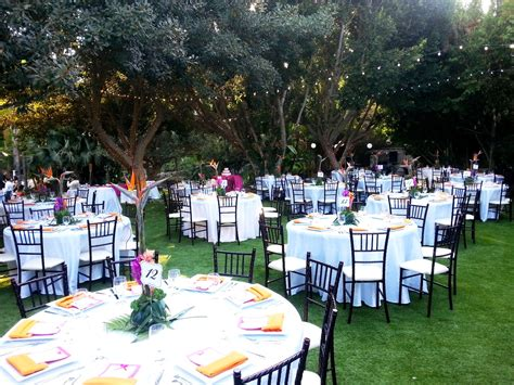 wedding outdoor reception garden receptions paradise falls weddings