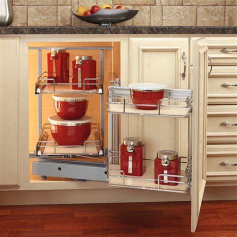 rev  shelf premiere blind corner kitchen cabinet