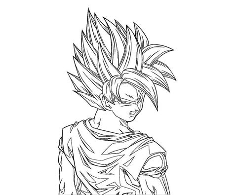 coloring page goku coloring pictures of goku coloring home