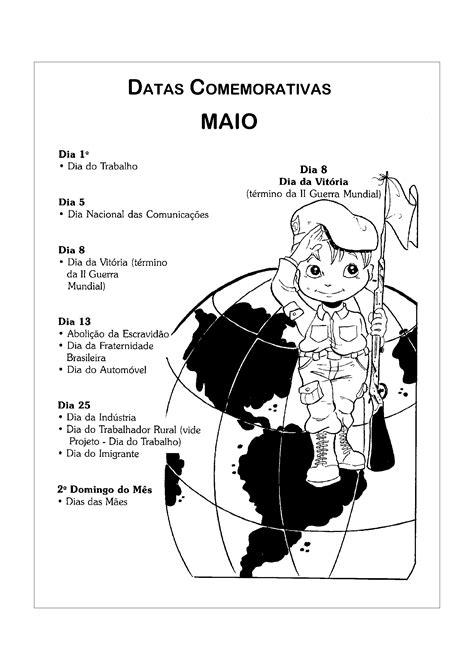 Datas comemorativas de Maio - Só Atividades