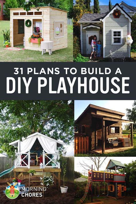 simple home plans to build 31 free diy playhouse plans to build for your secret