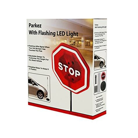 Stop Garage by Parkez Stop Sign Led Light Car Garage Sign