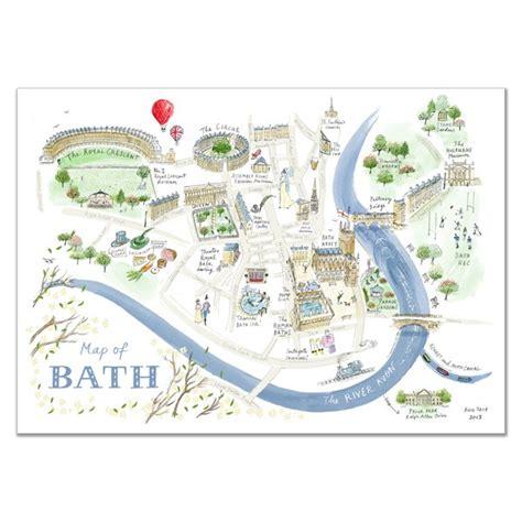 map bathrooms alice tait map of bath print alice tait shop