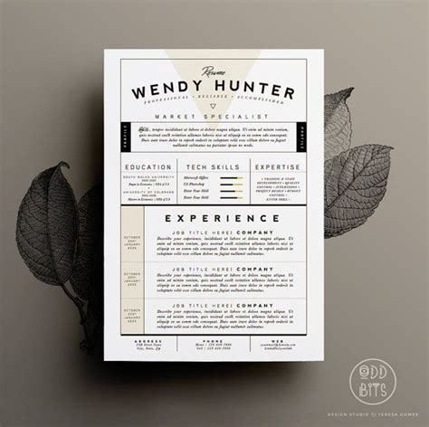 Digital Designer Cover Letter by Resume Template Cv Template Cover Letter For Word 3 Page Pack Instant Digital