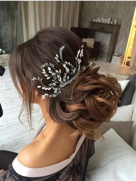 75 chic wedding hair updos for brides deer pearl flowers