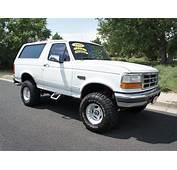 Ford Bronco 1995 White Suv 4x4 Lifted 5 8 Gasoline V8 4