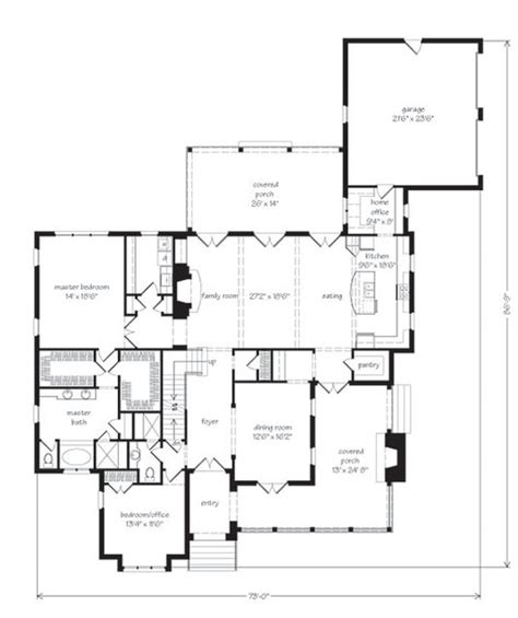 southern living floorplans elberton way mitchell ginn print southern living house plans