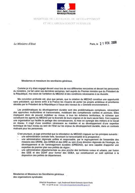 Exemple Lettre De Bienvenue Lettre De Borloo 1