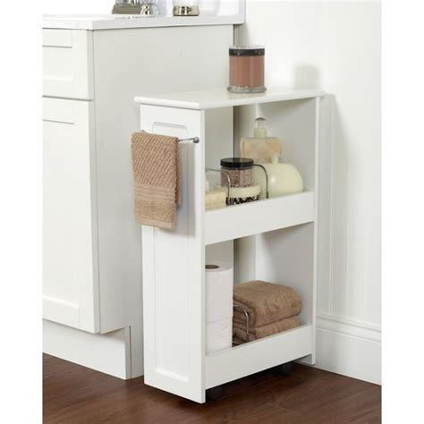 Zenith Products 2 Shelf Rolling Bath Cart White Walmart Com Bathroom Shelves Walmart