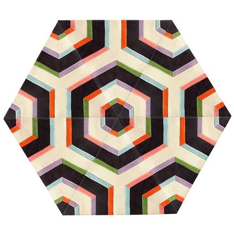 Hexagon Rug by Kinder Modern Large Hexagon Maze Rug In 100 New Zealand