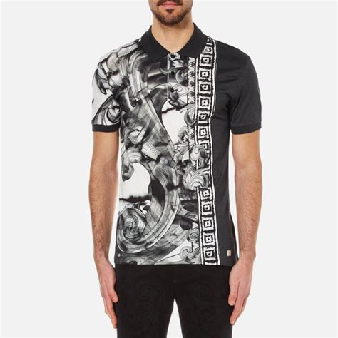 Patterned Polo Shirt versace collection s patterned polo shirt with