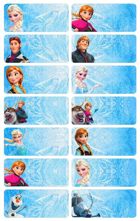Promo Frozen Sticker Name Label Small Stiker Karakter Frozen Cocok name stickers 52pcs frozen end 4 26 2017 11 15 pm