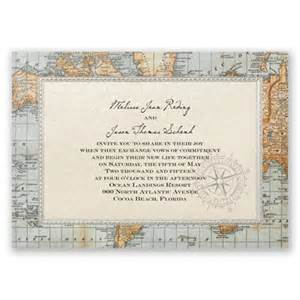 map for wedding invitations antique world map wedding invitation nautical wedding invites at invitations by