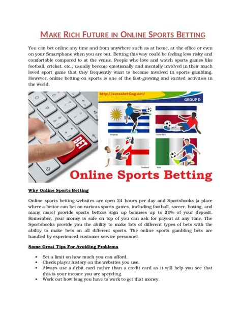 Make Money Online Betting - make rich future in online sports betting