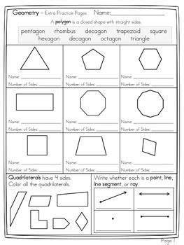name the pattern math geometry name the polygon and decompose shapes 7 page