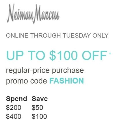 Neiman Marcus Gift Card Promotion 2017 - up to 100 off at neiman marcus frequent miler