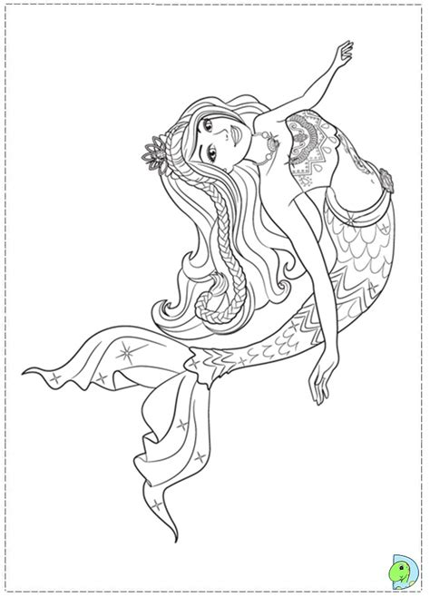 Barbie Mermaid Coloring Page Az Coloring Pages Colouring Pages Mermaids