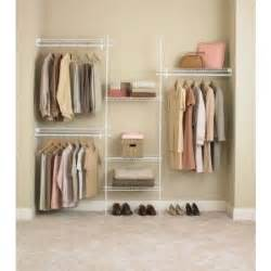 Aluminum Closet System by Closetmaid Superslide 5 Ft To 8 Ft Metal White Closet