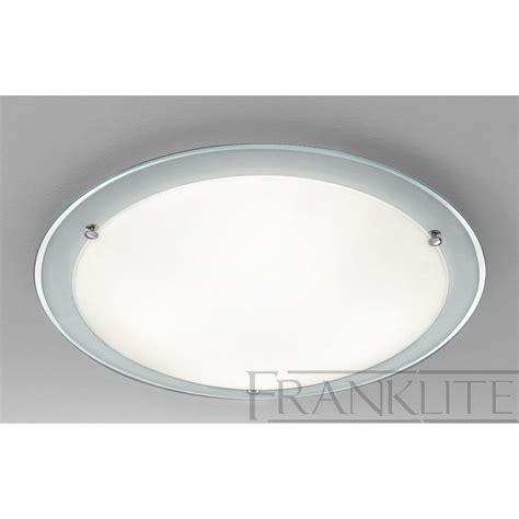 cf5665el flush ceiling light chrome glass
