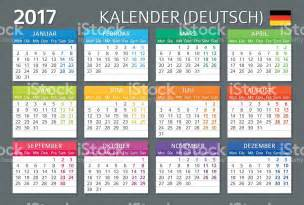 Kalendar 2018 Germany German Calendar 2017 Kalender 2017 Stock Vector