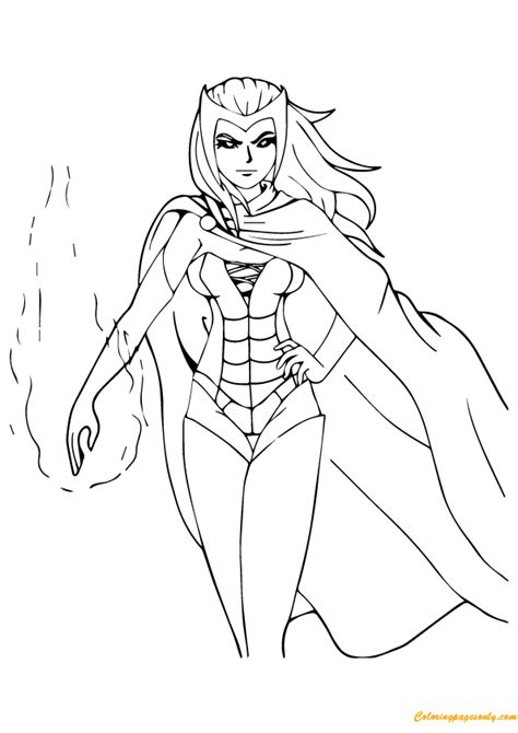 coloring pages scarlet witch scarlet witch avengers coloring page free coloring pages