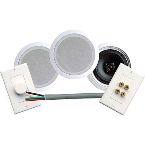 Pyle In Ceiling Speakers by Pyle Pro Phskit6 6 5 Quot In Ceiling Speaker System Phskit6 B H