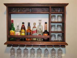 Mini Bar Display Cabinet 1000 Ideas About Wall Mounted Wine Racks On