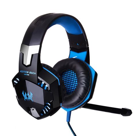 Headset Mic Gaming pro gaming headset headband led luminous headphones mic