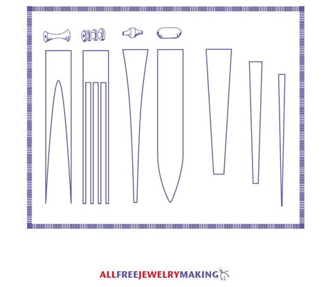 beading templates paper bead pattern printable allfreejewelrymaking