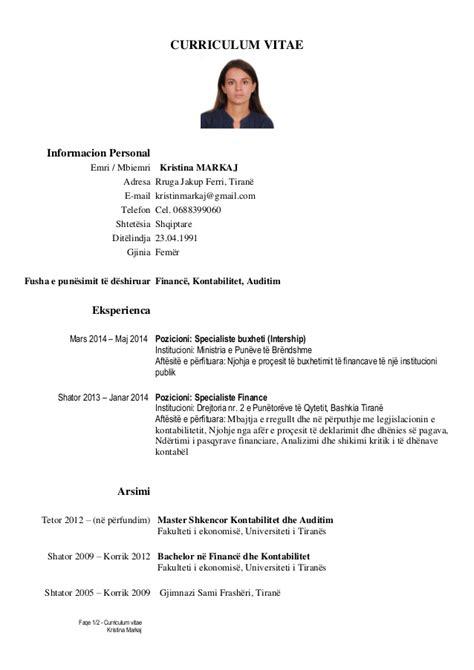 european curriculum vitae format shqip cv markaj