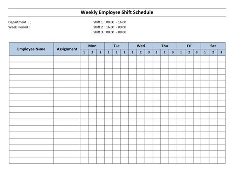 monthly work schedule template free free printable employee work schedules weekly employee