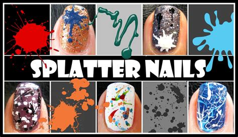 acrylic paint nail tutorial for beginners splatter nail tutorial easy beginner techniques to
