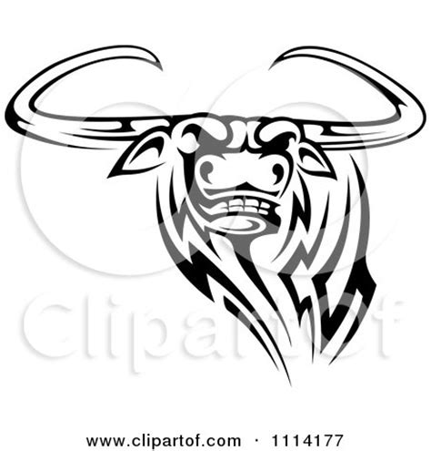 tribal longhorn tattoo royalty free rf logo clipart illustrations vector