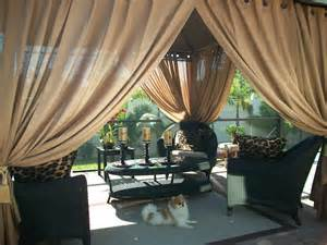 Outdoor Gazebo With Curtains Patio Pizazz Indoor Outdoor Gazebo Drapes Curtains Price Includes 2 Panels Ebay