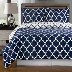 Duvet Patterns Meridian Navy Reversible Cotton Comforter Set Free Shipping