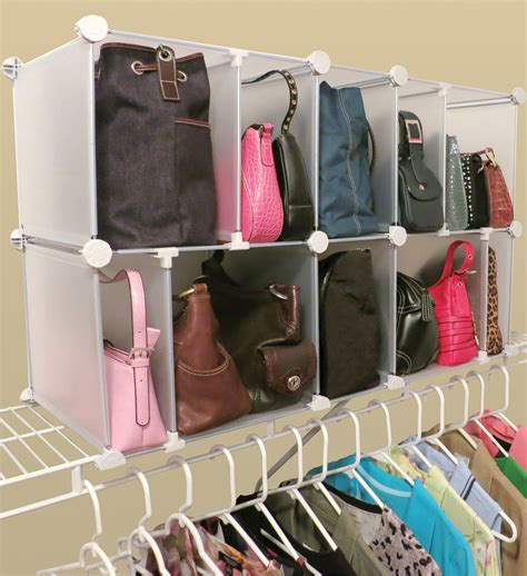 Closet Storage For Purses by Park A Purse Modular Organizer In Purse Organizers