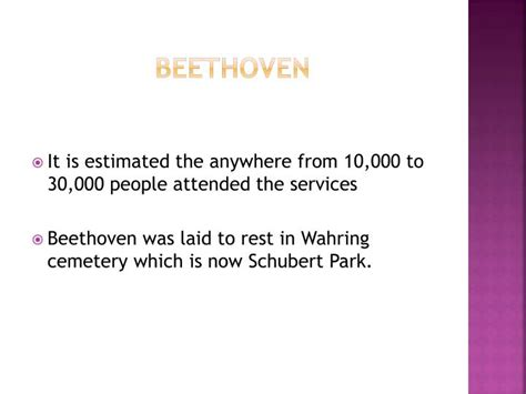 beethoven biography ppt ppt biography of ludwig van beethoven powerpoint
