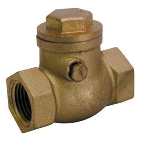 mueller swing check valve mueller global 3 4 in brass fpt swing check valve 101