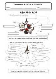 meg and mog a worksheet on the story by jan pie 241 kowskire