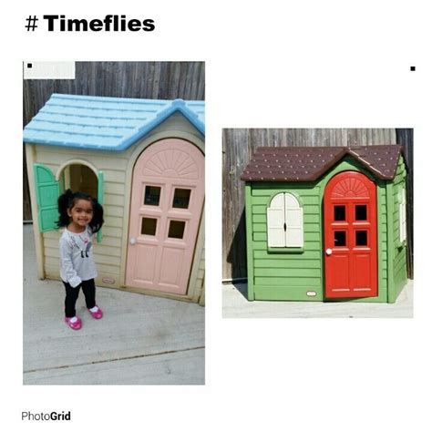 tikes playhouse with brown roof tikes playhouse remodeled 15 year playhouse