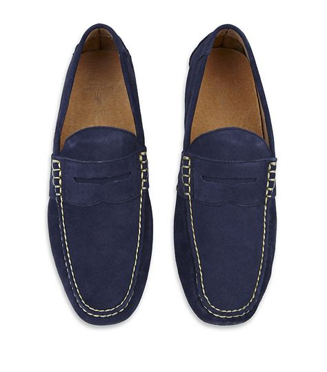 ralph loafers polo ralph telly loafer in blue for lyst