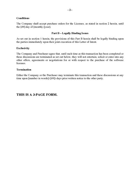Letter Of Agreement Software Project letter of intent to purchase software licenses