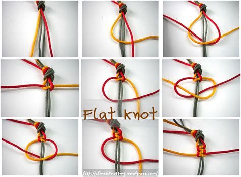 Macrame Flat Knot - flat knot story and tutorial chineseknotting
