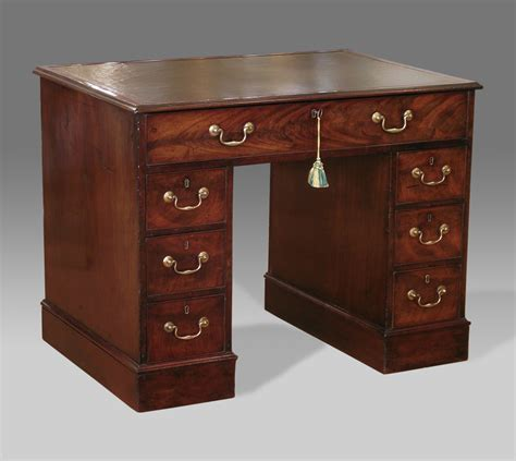Mahogony Desk by Antique Mahogany Pedestal Desk Georgian Pedestal Desk