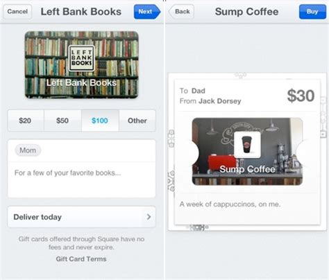 Gift Cards With Square - square adds passbook integration and gift cards mac rumors
