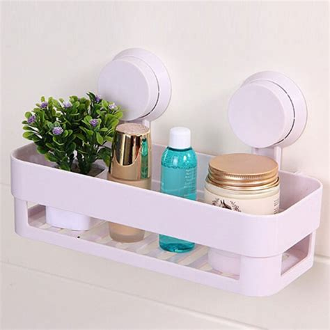 suction cup shelf bathroom plastic bathroom shelf kitchen storage box organizer