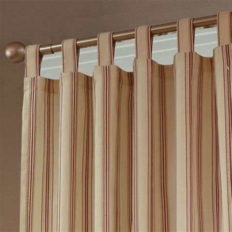 making tab top curtains weathermate stripe thermalogic tm tab top curtains