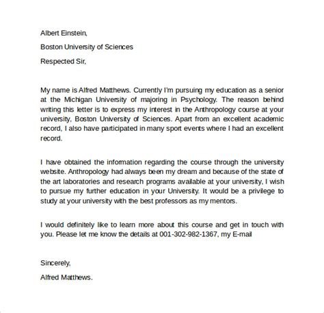Letter Of Intent Masters Template Letter Of Intent Graduate School 7 Free Sles Exles Formats