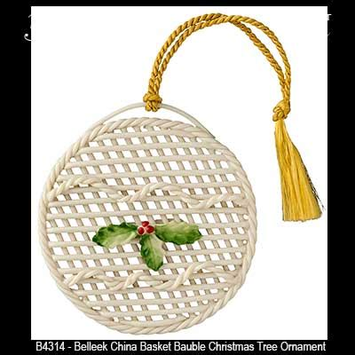 belleek christmas ornament basket bauble